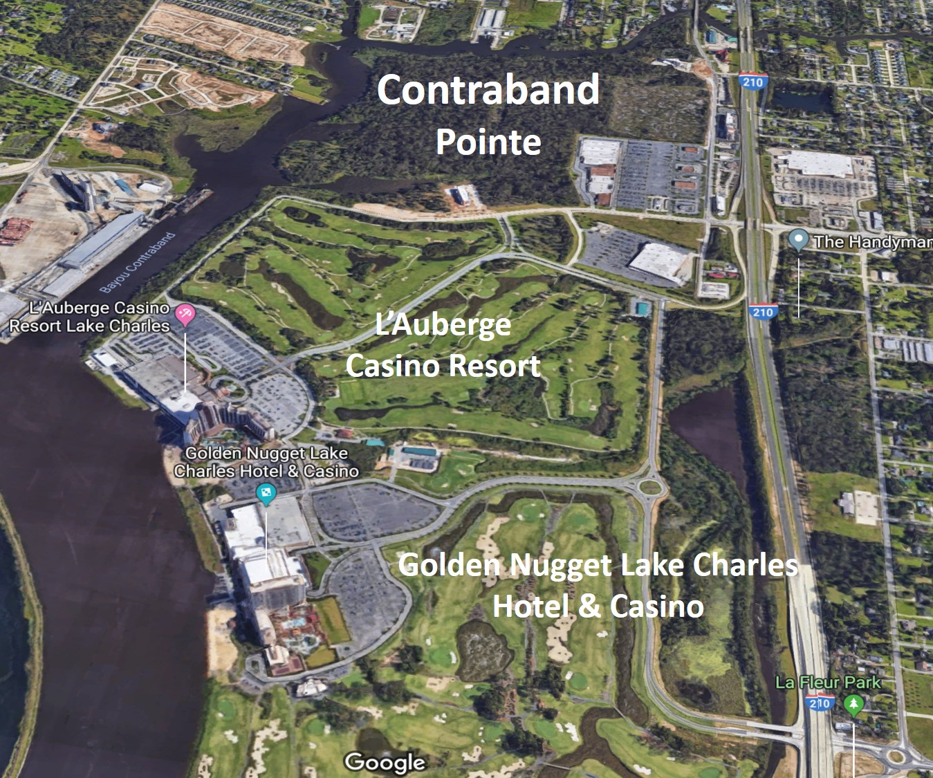Contraband Point's proximity to Casinos